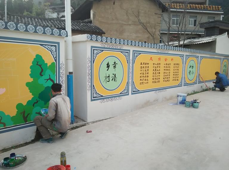 景德镇鹏城墙绘是景德镇首家墙绘公司