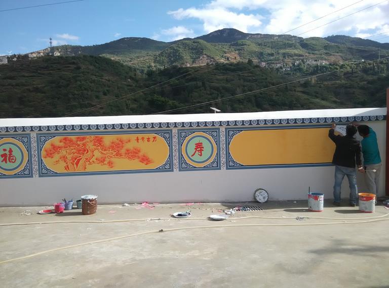 江西一角度手绘从事墙体彩绘及油画等艺术品绘画制作