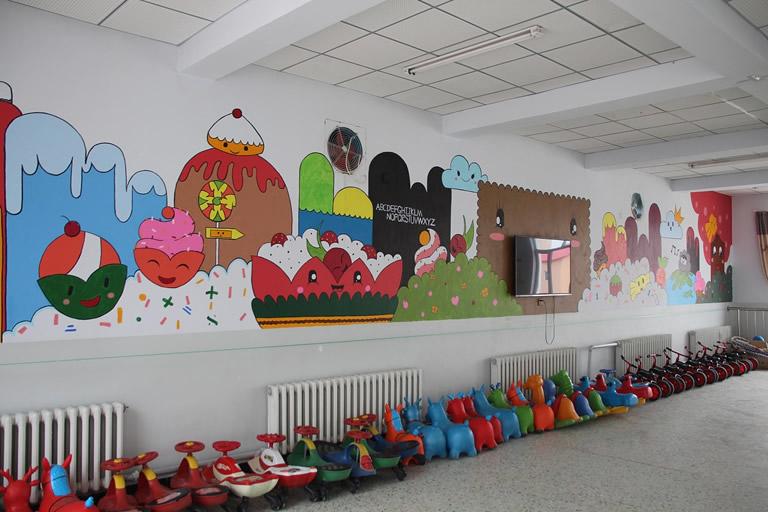 上海花城手绘壁画
